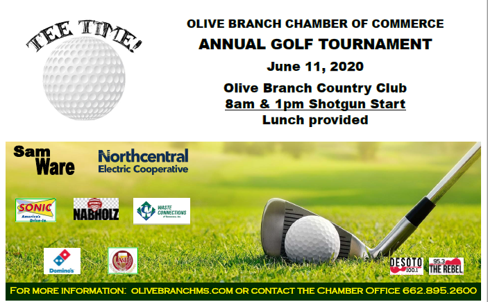 Our 2020 golf tournament is June 11th at Olive Branch Country Club!